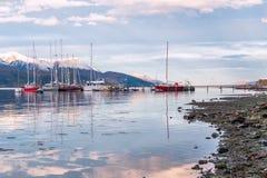 Brakkanaal Eind van de Wereld, Tierra del Fuego Royalty-vrije Stock Afbeeldingen