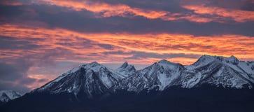 Brakkanaal Ushuaia Zonsopgang Zonsopgang argentinië Juli 2014 Stock Foto