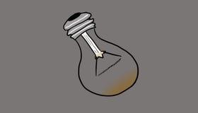 Brakowa żarówka, ilustracja Obraz Royalty Free