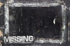 Brakujący szyldowy szablon zdjęcie royalty free