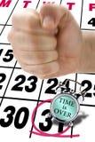 Brakujący ostatecznego terminu stresu pięści uderzenia zegaru alarm zdjęcia royalty free