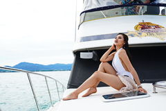 Brakuje Ponadnarodowego Tajlandia 2017, Campingową wycieczkę i krótkopędu bikini, Obraz Royalty Free