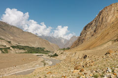 Braldu River in the Karakorum Mountains Royalty Free Stock Photos