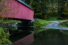 Braley-überdachte Brücke - Randolph, Vermont Stockbilder
