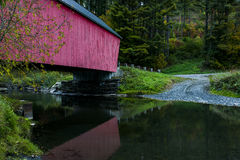 Braley Covered Bridge - Randolph, Vermont. A view of the Braley Covered Bridge over the Second Branch of the White River in Vermont Stock Images