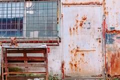 Bram stare fabryki/tło Zdjęcia Stock