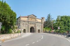 Brama świętego Augustine Porta Sant ` Agostino w Bergamo Obraz Stock