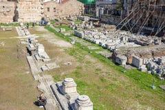 11 03 2018 - Brama Athena Archegetis i resztki rzymianin Zdjęcie Stock