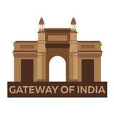brama Bombaju indu Indiańska architektura Mumbai Nowożytny płaski projekt również zwrócić corel ilustracji wektora Zdjęcia Stock