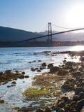 brama bridżowi lwy Vancouver Fotografia Royalty Free