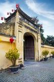 Brama Cesarska cytadela Thang Tęsk w Hanoi fotografia stock