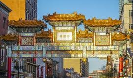 Brama Chinatown w washington dc KOLUMBIA, KWIECIEŃ - 7, 2017 - washington dc - Zdjęcie Royalty Free