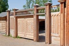 brama drewniana obrazy stock