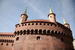 Brama Florianska, gate of the medieval Krakow Royalty Free Stock Photography