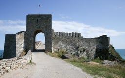 Brama forteczny Kaliakra, Czarny Denny wybrzeże zdjęcia stock