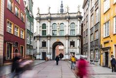 brama Gdansk złoty Zdjęcie Royalty Free