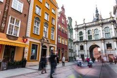 brama Gdansk złoty Zdjęcie Stock