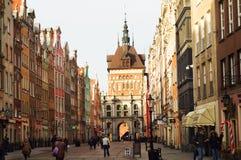 brama Gdansk złoty fotografia royalty free