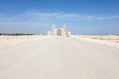 Brama gospodarstwo rolne w pustyni Katar, Środkowy Wschód Zdjęcie Royalty Free