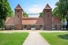 Brama i wejście sterowiec przesyłamy w Potsdam Zdjęcie Stock