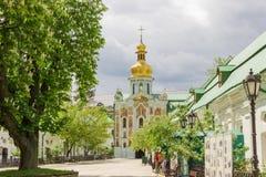 Brama kościół trójca Kyiv Pechersk Lavra, Ukraina fotografia royalty free