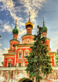 Brama kościół transfiguracja przy Novodevichy klasztorem - a Fotografia Royalty Free