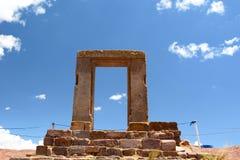 Brama księżyc Tiwanaku archeologiczny miejsce Boliwia zdjęcie stock
