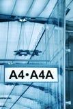 brama lotniskowy znak Obrazy Stock