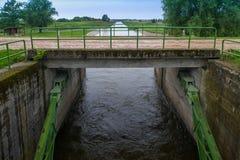 Brama mechanizmy dla powodzi ochrony Krajobraz n Fotografia Royalty Free