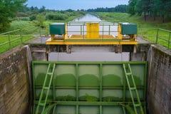 Brama mechanizmy dla powodzi ochrony Krajobraz n Obraz Royalty Free