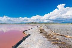 Brama między jeziorami w solankowej produkci zdjęcie stock