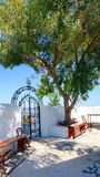 Brama monasteru drzew Rodes wyspa Obraz Royalty Free