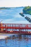 Brama na korytkowych statkach Obraz Royalty Free