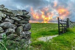 Brama przy zmierzchem Zdjęcia Stock