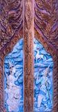 Brama robić drewno rzeźbiący obraz stock