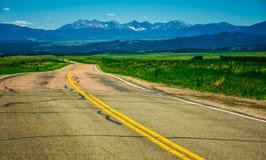 Brama Skalistych gór Kolorado droga Zdjęcia Royalty Free