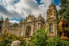 Brama skarbiec, Dolmabahce pałac, Istanbuł, Turcja zdjęcia stock