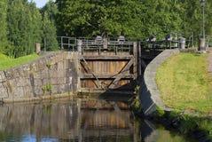 Brama stara część Saimaa kanał Fotografia Stock