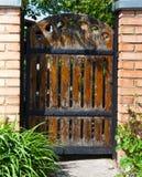 Brama Stara drewniana brama Fotografia Royalty Free