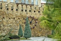 Brama stary forteca, wejście Baku stary miasteczko Baku, Azerbejdżan Ściany Stary miasto w Baku Icheri Sheher Stary lub Inne, Zdjęcie Royalty Free