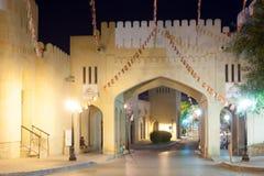 Brama stary miasteczko Nizwa, Oman Fotografia Royalty Free