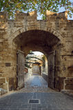 Brama Stary miasto Rhodes wyspa Grecja Fotografia Royalty Free