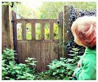 Brama tajemnicy chłopiec zastanawiać się Obrazy Stock