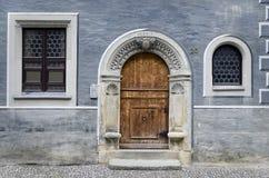 Brama w Błękitnej fasadzie Obraz Stock