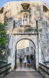 Brama w Dubrovnik Fotografia Stock
