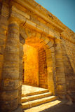 Brama w fortecznym Spinalonga, Crete, Grecja Obrazy Stock