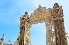 Brama w ogródzie Dolmabahce pałac, Istanbuł Obrazy Stock