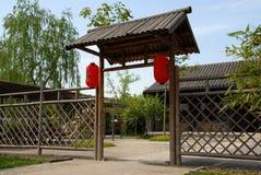 brama wiejskiej Zdjęcia Royalty Free