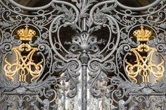 Brama z monogramem Obrazy Royalty Free