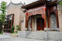 Brama z ulgą staromodny Chiński budynek Zdjęcia Stock